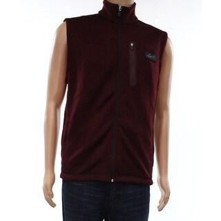 Greg Norman Purple Mens Size Small S Fleece Full Zip Sweater Vest