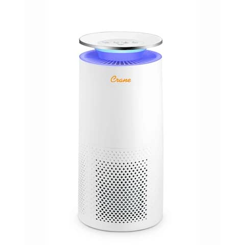 Crane True HEPA Air Purifier with UV Light for Rooms up to 500 sq. ft.