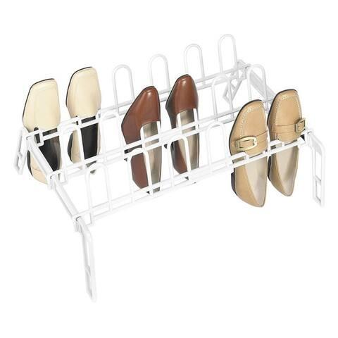 Whitmor 6780-5440-WHT Floor Shoe Rack, White, Metal