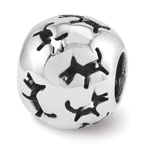 Sterling Silver Reflections Dog Bead (4mm Diameter Hole)
