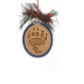 "3"" Boy Scout Bear Paw Print Decorative Christmas Ornament"