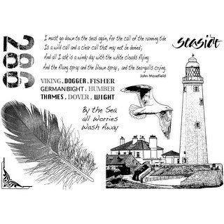 """Crafty Individuals Unmounted Rubber Stamp 4.75""""X7"""" Pkg-Call Of The Sea"""