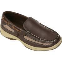 Deer Stags Boys' Pal Boat Shoe Dark Brown