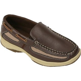Deer Stags Boys' Pal Boat Shoe Dark Brown