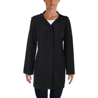 Eileen Fisher Womens Jacket Hooded Lightweigth