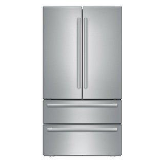 """Bosch B21CL1SNS 800 Series 36"""" Wide 21 Cu. Ft. French Door Refrigerator with Dual AirCool System - Stainless Steel - N/A"""