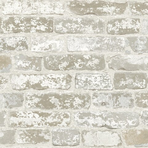 York Wallcoverings RB4304 Tone On Tune Wallpaper - weathered white ash - N/A