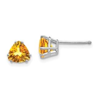 Link to 14K White Gold Citrine Trillion Stud Earrings by Versil Similar Items in Earrings