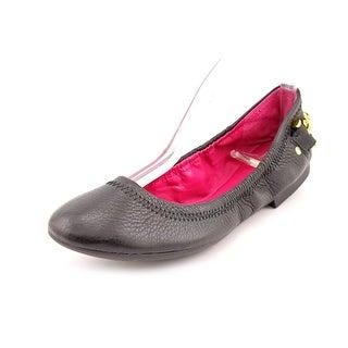 Lauren Ralph Lauren Barb   Round Toe Leather  Ballet Flats