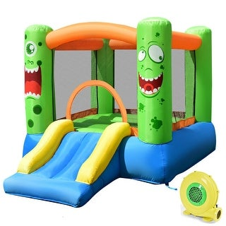 Link to Costway Kids Playing Inflatable Bounce House Jumping Castle Game Fun - 110''x83''x67'' Similar Items in Outdoor Play