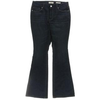 Jessica Simpson Womens Plus Uptown Flare Jeans Denim Slim Fit - 14W
