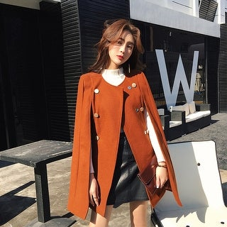 Link to British Style Woolen Cape Coat Similar Items in Women's Outerwear
