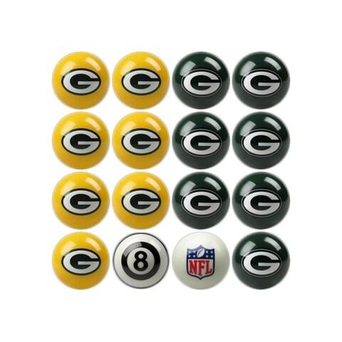 NFL Green Bay Packers Home vs. Away Team Billiard Pool Ball Set - White