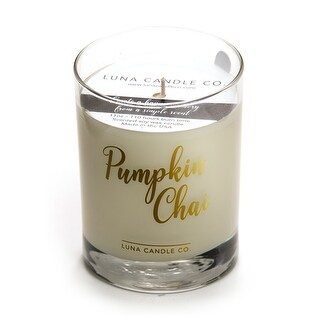 Pumpkin Chai Candle, Fall Decor, Premium Soy Blend Wax, Strong Scent