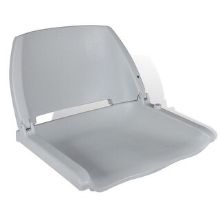 "vidaXL Boat Seat Foldable Backrest No Pillow Gray 16.1""x20.1""x18.9"""