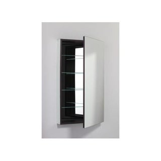 "Robern PLM2440LE PL 23"" x 39"" Frameless Medicine Cabinet Left Hinged with Flat Mirror and Electrical Outlet"