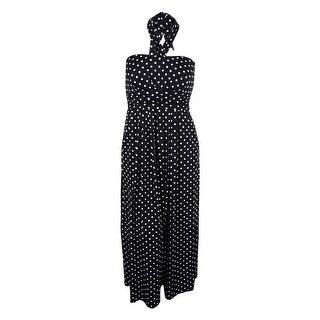 Love Squared Women's Sleeveless Polka Dot Print Dress - 1x
