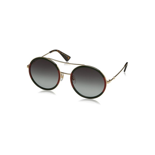 408adbbe7f5 Shop Gucci Gg0061S 003 Green Red   Gold Gg0061S Round Sunglasses Lens  Category 3 S - gold-gold-green - One size - Free Shipping Today - Overstock  - 24266489