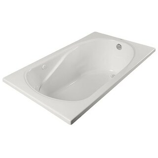 "ProFlo PFS6042A 60"" X 42"" Drop-In or Alcove Soaking Bathtub - EasyCare Acrylic"