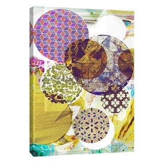 """PTM Images 9-109115  PTM Canvas Collection 10"""" x 8"""" - """"Patterned Circles 4"""" Giclee Abstract Art Print on Canvas"""