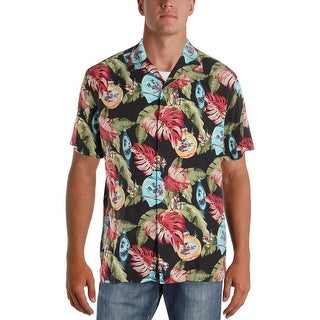 Tommy Bahama Mens With Bells On Button-Down Shirt Silk Floral Print - L