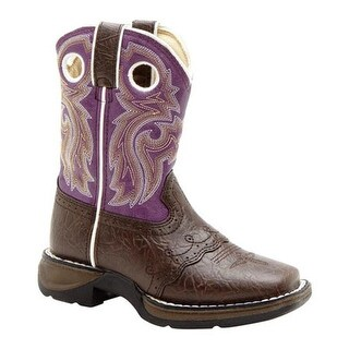 "Durango Boot Girls' BT286 8"" Li'l Flirt Dark Brown/Purple"