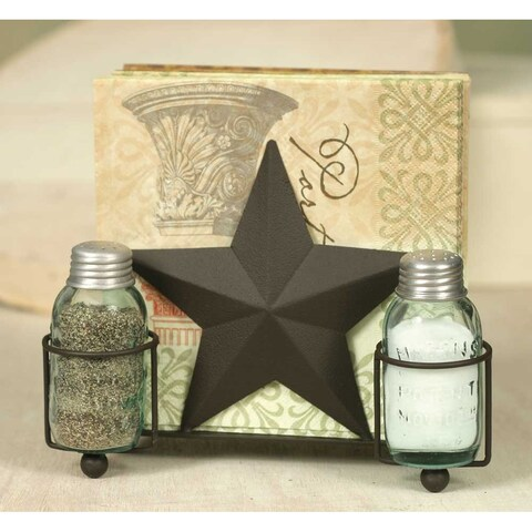 Star Salt Pepper and Napkin Caddy -2Pack