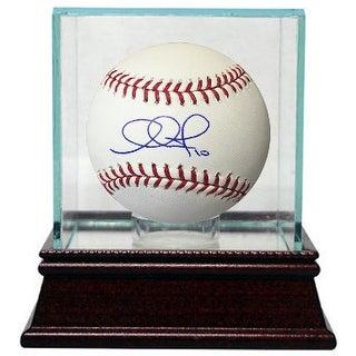 Adam Jones signed Rawlings Official Major League Baseball w/ Glass Case #10 (Orioles)