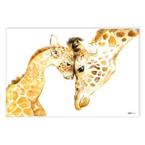 'Mama & Baby Giraffe' Canvas Animal Wall Art by Laurie Duncan