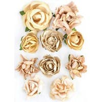 "Honey - Paper Blooms 1"" To 1.5"" 10/Pkg"