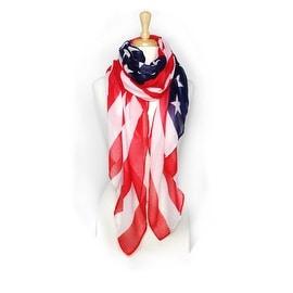 Women's American Flag Convertible Pareo  Scarf
