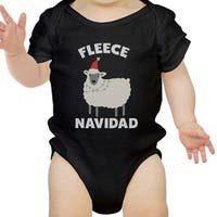 Fleece Navidad Cute Christmas Infant Bodysuit Gift Black Baby Romper