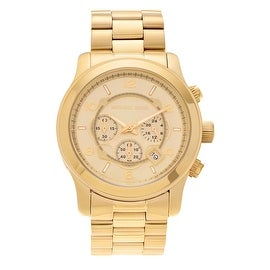 Michael Kors Men's Goldtone Stainless Steel Chronograph MK8077 'Runway' Bracelet Watch