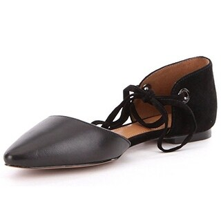 Coach Womens Roy Suede Pointed Toe Ankle Strap Slide Flats (3 options available)