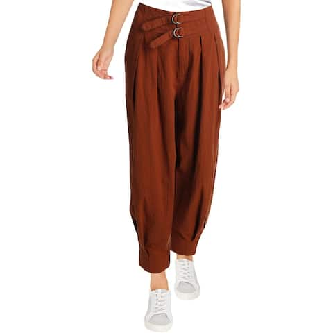 Free People Womens Trouser Pants Double-Buckle Soft