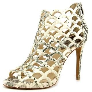 Vince Camuto Fontanela Women Open Toe Leather Ivory Sandals