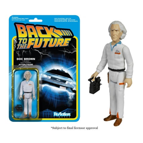 """Reaction Back To The Future Doc Brown 3.75"""" Action Figure - multi"""