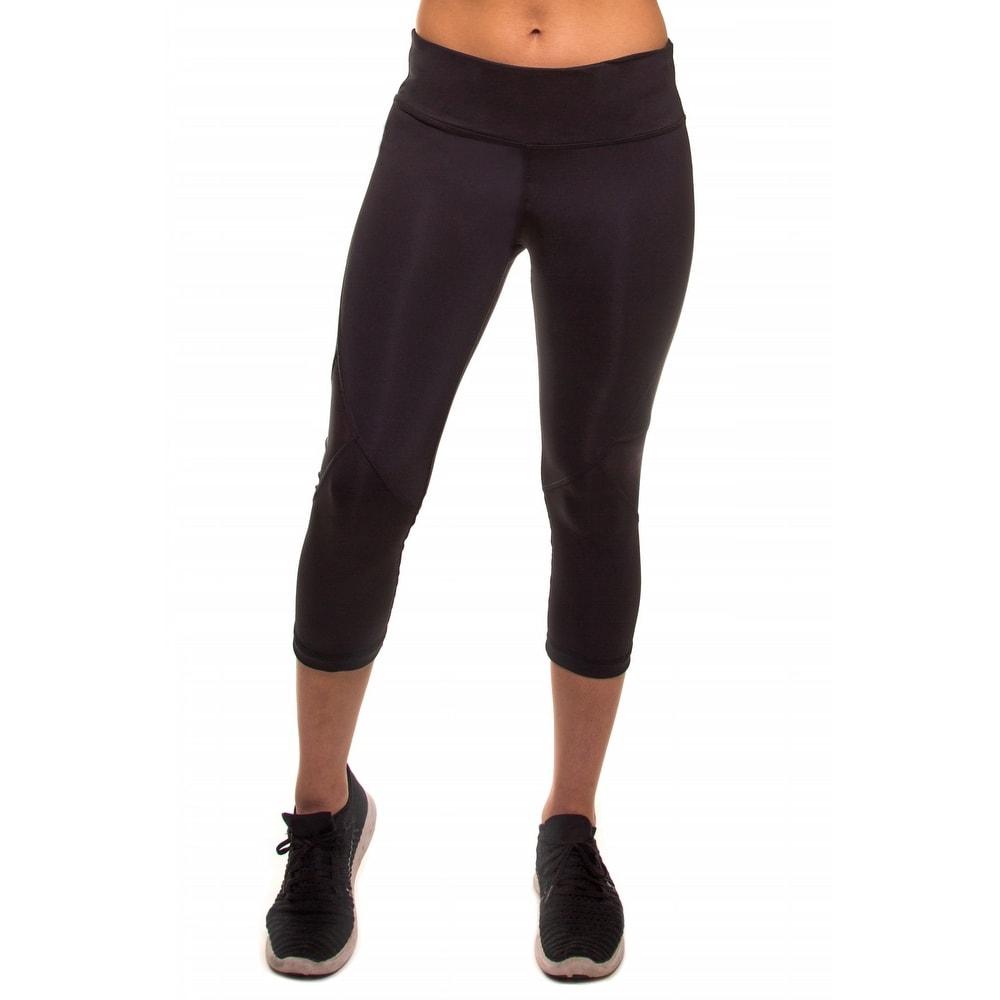 Womens Capri Pants Workout Running Yoga Pants with Mesh LL3