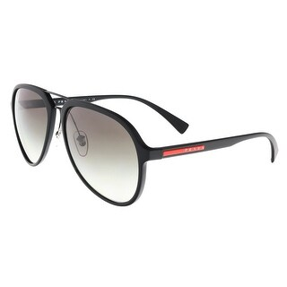 Prada  PS 05RS  DG0047 Black Aviator Sunglasses - Pale Gold - 58-17-135