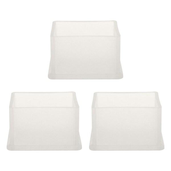 "Clear PVC Chair Leg Caps End Tip Feet Cover Furniture Slider Floor Protector 3pcs 1.18"" x 1.57"" (30x40mm) Inner Size"