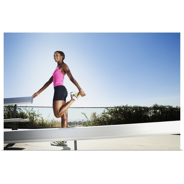 """Athletic woman stretching"" Poster Print"