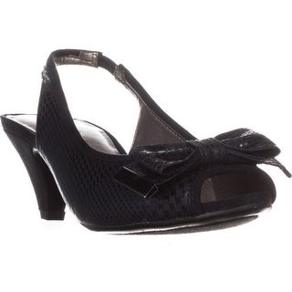 KS35 Aura Low-Heel Sling-Back Pumps, Navy