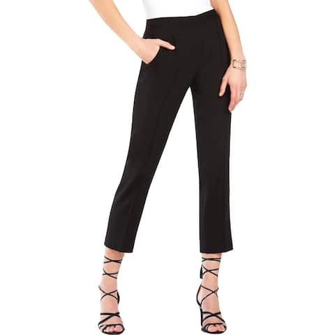 BCBG Max Azria Womens Gerry Dress Pants Pintuck Cropped - 2