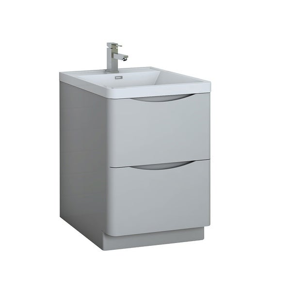 """Fresca FCB9124-I Senza 24"""" Free Standing Single Basin Vanity Set with MDF Cabinet and Acrylic Vanity Top"""