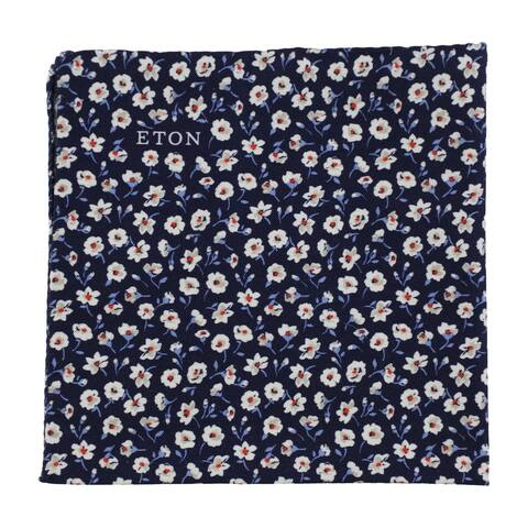 Eton Mens Floral Pocket Square, blue, One Size - One Size