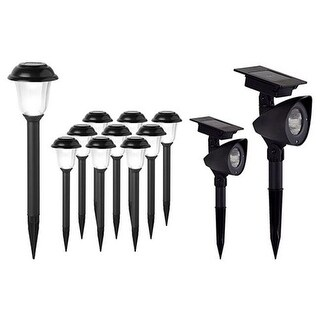 EZ Solar Solar Powered LED Combo Pathway Lights, Pack of 12