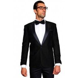 MZV-400 BLACKMen's Manzini Fancy Stripe design Velvet, sport coat