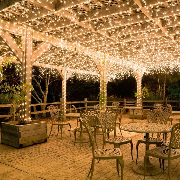 """Wintergreen Lighting 15242 9' Long Indoor Commercial Mini Icicle Lights with 4"""" Spacing and White Wire - CLEAR - N/A"""
