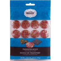 Chocomaker(R) Chocolatier(Tm) Pre-Filled Transfer Mold-Round W/Red Cocoa Butter Color Drops