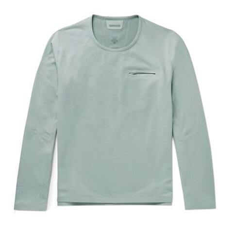 Descente Allterrain Mens SIO Seamless Fleece Sweatshirt XXL Medium Grey